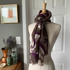 Men's Italian wool paisley scarf 103